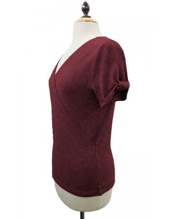 Wrap Twist Sleeve Top