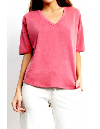 French Terry V-Neck Dolman