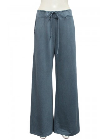 Washed French Terry Wide Leg Pants