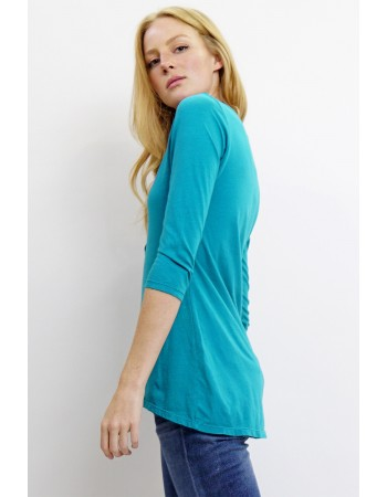 Soft Cotton Jersey Ring Snap Henley