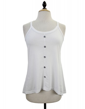 Cotton Jersey Front Button Camisole