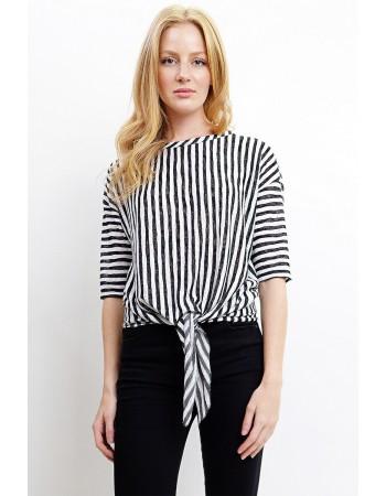 Stripe Slub Tie Front