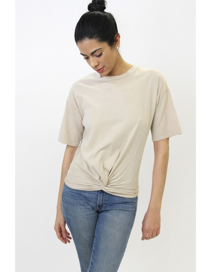 Cotton Jersey Twist Tee