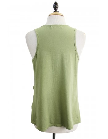 Cotton Jersey Twist Tank