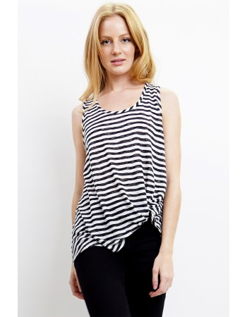 Slub Stripe Twist Tank