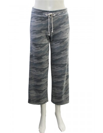Camo French Terry Cropped Pant
