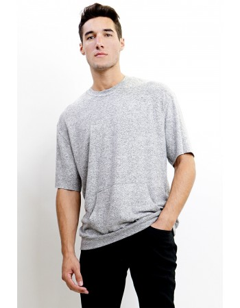 Cozy Knit Pocket Tee