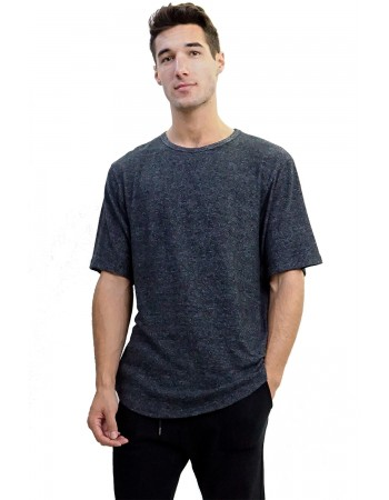 Cozy Knit Curved Hem Tee