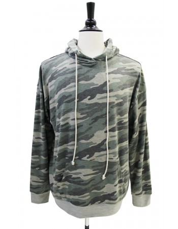 Camo French Terry Pullover Hoodie