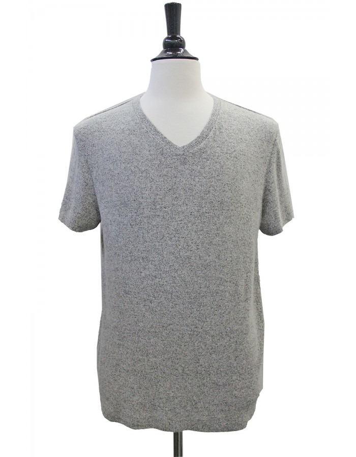 Cozy Knit V-Neck Tee
