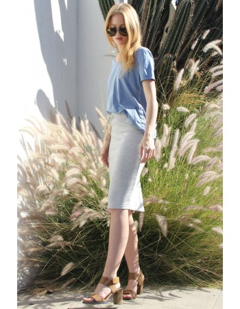 French Terry Pencil Skirt