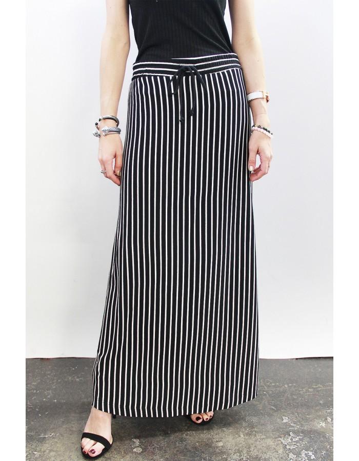 Fleece Stripe Maxi Skirt