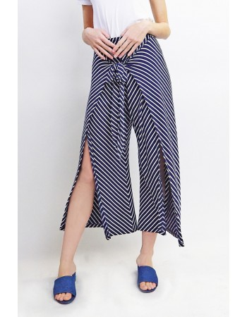 Fleece Stripe Wrap Pants
