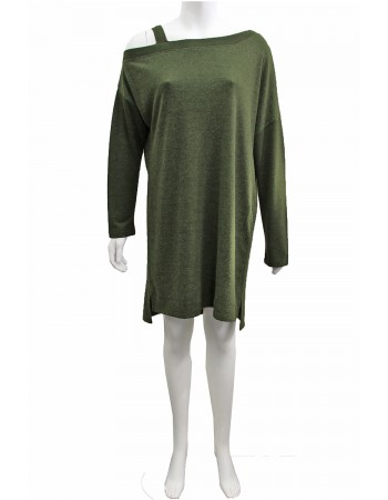 French Terry Fleece Off Shoulder