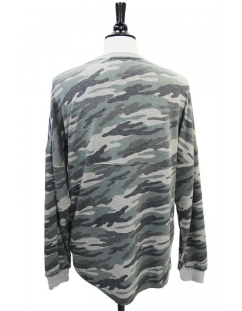 Camo French Terry Seam Sweatshirt