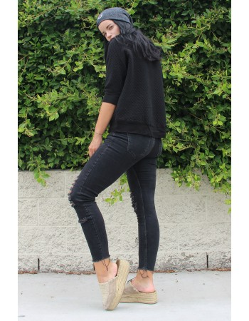 Raglan Elbow Sleeve Top