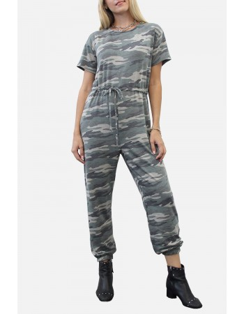 Camo French Terry Jogger Jumpsuit