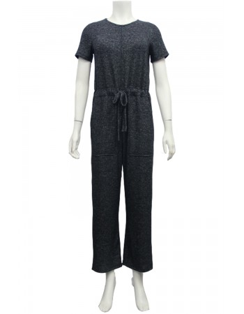 Cozy Knit Short Sleeve Jumpsuit