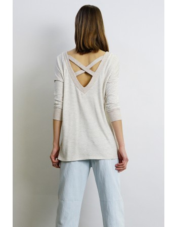 Soft French Terry Cross Back Top