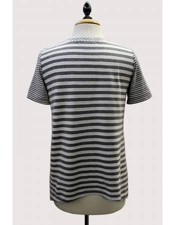 Mix Stripe Side Vent Tee