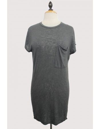 Slub Jersey Pocket Tunic