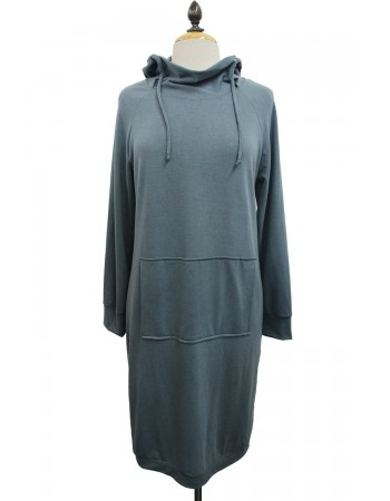 French Terry Hoodie Dress