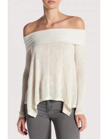 Slub Off Shoulder