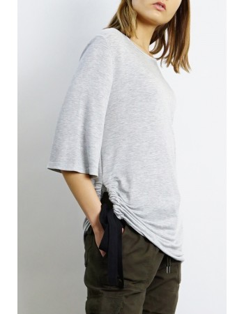 Lightweight French Terry Side Tie Top