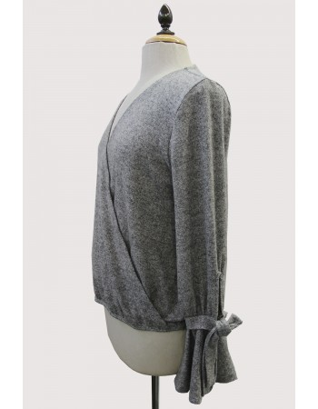 Cozy Knit Wrap Tie Sleeve