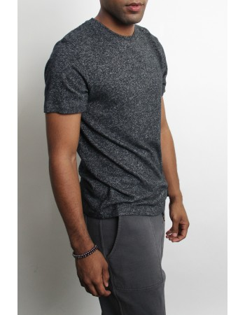 Cozy Knit Basic Crew Neck Tee