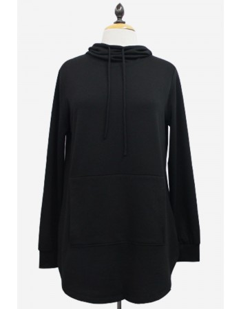 French Terry Zip Back Hoodie