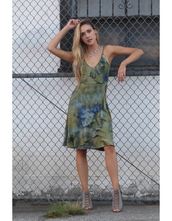 Soft Tie Dye Ruffle Dress