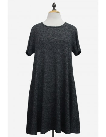Ultra Soft Short Sleeve Swing Dress