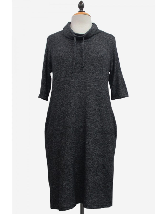Ultra Soft Cowl Neck Dress