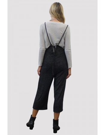 Cozy Knit Suspender Pants