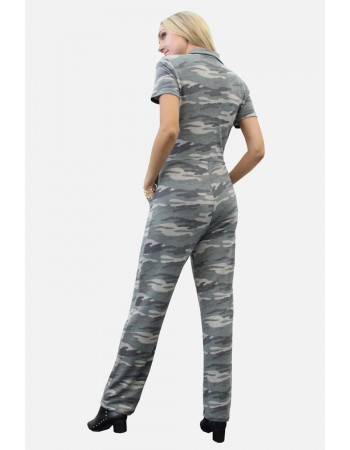 Camo French Terry Utility Jumpsuit