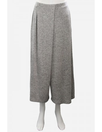 Brushed Two Tone Pleated Gaucho Pants