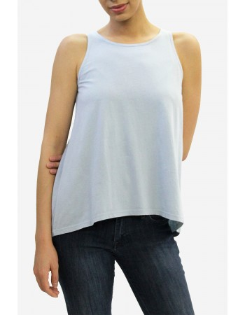 Cotton Jersey Keyhole Back Tank