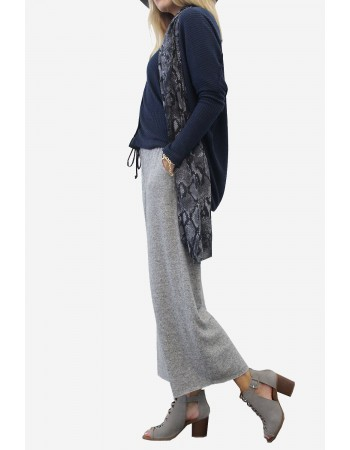 Cozy Knit Wide Leg Pants