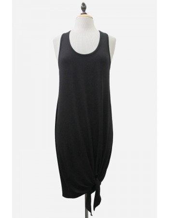 Viscose Jersey Tied Hem Dress