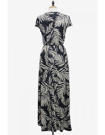 Leaf Print Hi Low Dress