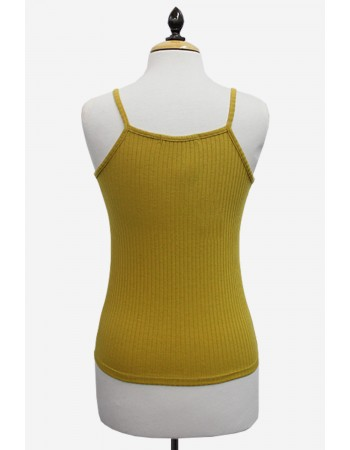 Rib Button Notch Cami