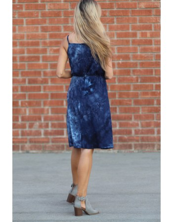 Soft Tie Dye Toggle Dress