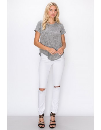 Intermingle Curved Hem Top