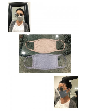 Chambray Jersey Mask -2PC PACK