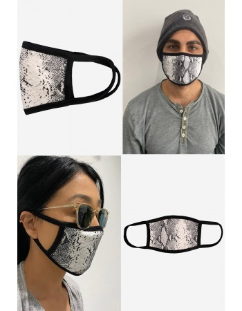 Python Mask Grey Black