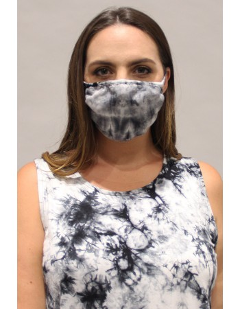 Tie Dye Mask Grey Black