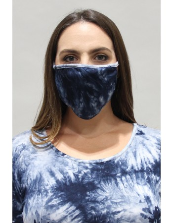 Tie Dye Mask Blue Multi