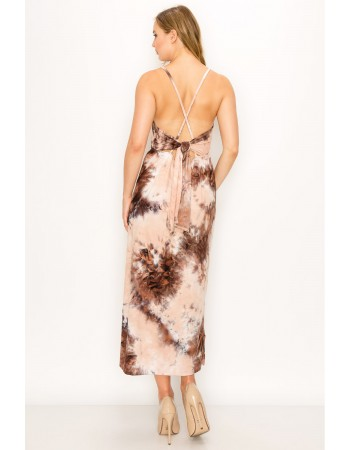 Soft Tie Dye Tie Back Dress