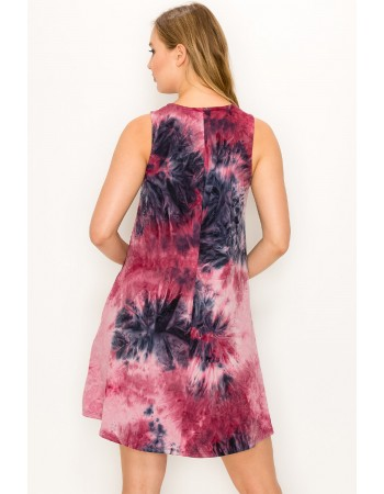Soft Tie Dye Swing Dress